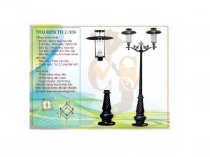 Trụ đèn sân vườn TD 2.009