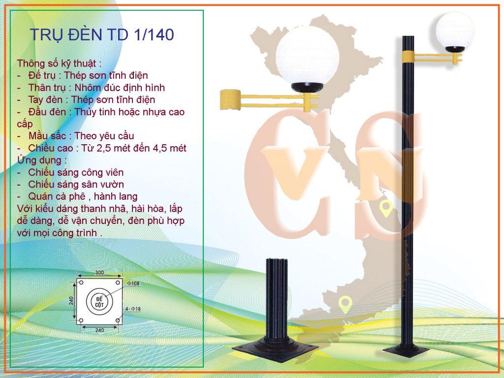 Trụ đèn trang trí sân vườn - Trụ đèn sân vườn TD 1/140