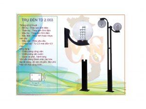 Trụ đèn sân vườn TD 2.003
