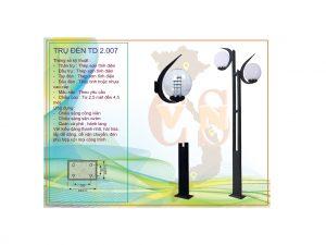 Trụ đèn sân vườn TD 2.007
