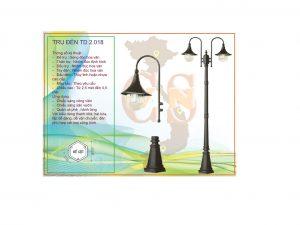 Trụ đèn sân vườn TD 2.018