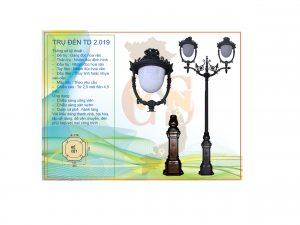 Trụ đèn sân vườn TD 2.019