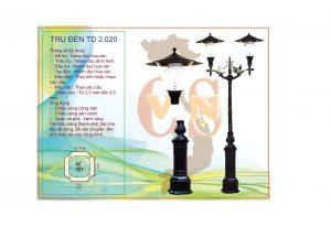 Trụ đèn sân vườn TD 2.020