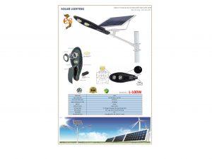 Đèn led năng lượng mặt trời VNLICO L-100W