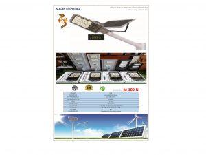 Đèn led năng lượng mặt trời VNLICO M-100-N